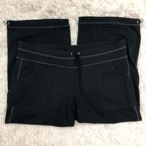 Athleta Black Slouch Capri Pants Size Medium